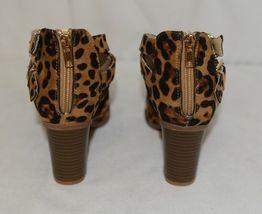Bella Marie Vermont 61 Leopard Suede Double Buckle Plus Zipper Size 6 image 4