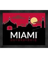 Miami of Ohio University 13 x 16 Uscape with Retro Skyline Framed Print  - $39.95