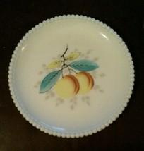 Westmoreland Milk Glass Beaded Edge Fruit Salad Plate 8 Inch Peach - $23.42