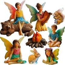 Mood Lab Fairy Garden - Miniature Fairies Figurines Accessories - Campin... - $30.78