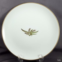 "Fukagawa Arita Wheat Salad Plate White Gold and Green 7-5/8"" ca 1960 - $9.03"