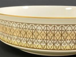 Retired Mikasa Lacerna Fruit  Bowl-Bone China-Gold Silver Green-8 Available - $7.92