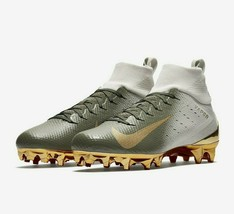 Nike Vapor Untouchable Pro 3 Football Cleats Size 9.5 White Gold 917165-007 - $64.95