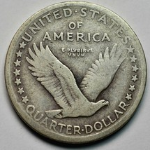 1917 Type I Standing Liberty Silver Quarter Coin Lot# A663 image 2