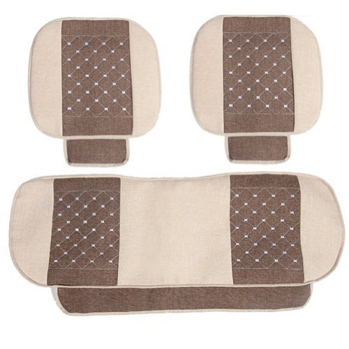 Set of 3 Auto Parts/General Car Cushion(No Backrest),Cream-coloured