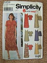 Simplicity Pattern #5959~Womens Dress w/Jacket~6 Styles one pattern~size 16-22 - $9.46
