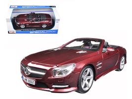 2012 Mercedes SL 500 Convertible Burgundy 1/18 Diecast Model Car by Maisto - $65.99