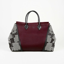 """Louis Vuitton Special Edition Prunille Velvet Cachemire Leather """"W GM"""" Tote Bag - $3,160.00"""