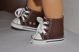 AMERICAN STYLE DOLL SHOES  FOR 18 INCH  GIRL DOLLS DRESS LOT  BROWN BOYS... - $8.99