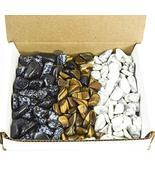 Tumbled Stone Collection 1.0lb Lots Snowflake Obsidian Tigers Eye White ... - $39.15