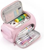 Pencil Case Mesh Zipper Bag Stationery Organizer Storage Pen School Stud... - $29.98