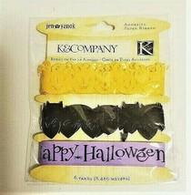 K&Company Adhesive Paper Ribbon, HALLOWEEN! PUMPKINS, BATS!