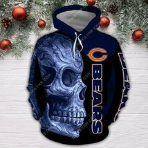 Chicago-Bears-Nfl Skull 3D Hoodie Unisex Size S-5XL , Gifts For Fans, Gift For F - $33.82+