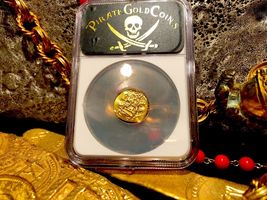 "MEXICO 1704 DATE 1 ESCUDO ""1715 PLATE FLEET SHIPWRECK"" NGC 61 PIRATE GOLD COINS image 7"