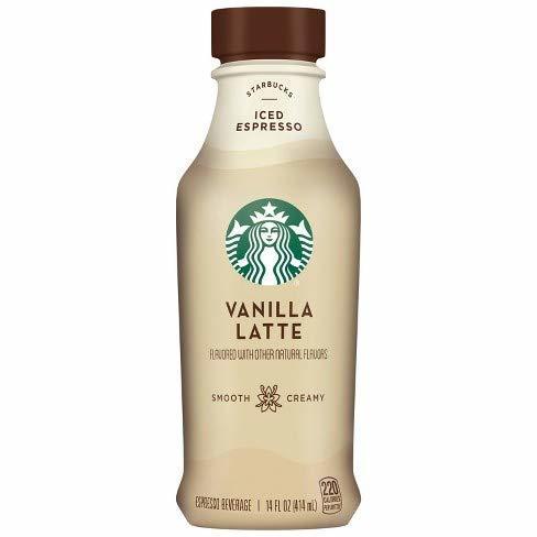 Starbucks Iced Espresso 14 Fl Oz Bottles (Vanilla Latte, 12 Bottles) - $39.59