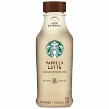 Starbucks Iced Espresso 14 Fl Oz Bottles (Vanilla Latte, 12 Bottles) - $39.59