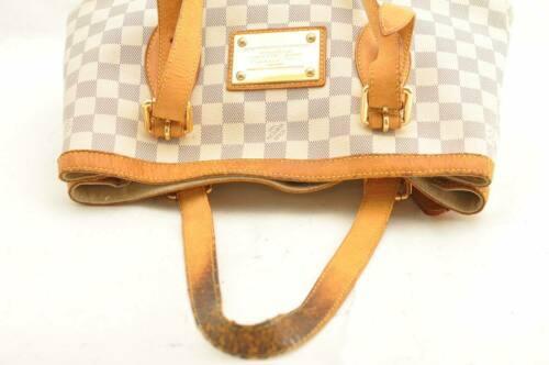 LOUIS VUITTON Damier Azur Hampstead MM Shoulder Tote Bag N51206 LV 10487 JUNK image 7