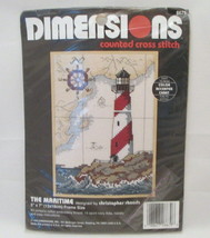 Dimensions: The Maritime-Counted Cross Stitch-New Lighthouse 5 x 7  - $8.90