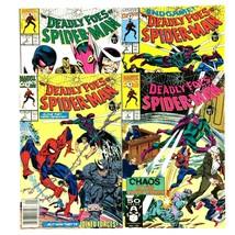 Deadly Foes of Spider-Man 1-4 1991 VF Marvel Kingpin Rhino Beetle Hydro-Man - $7.87