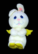 Vtg Mattel Angel Bunny White Yellow Satin Wings Snuggle Plush Doll 1984 ... - $29.95