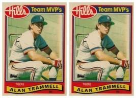 (2) 1989 Topps Hills Team MVP's Baseball #29 Alan Trammell Card Lot Tigers - $2.99