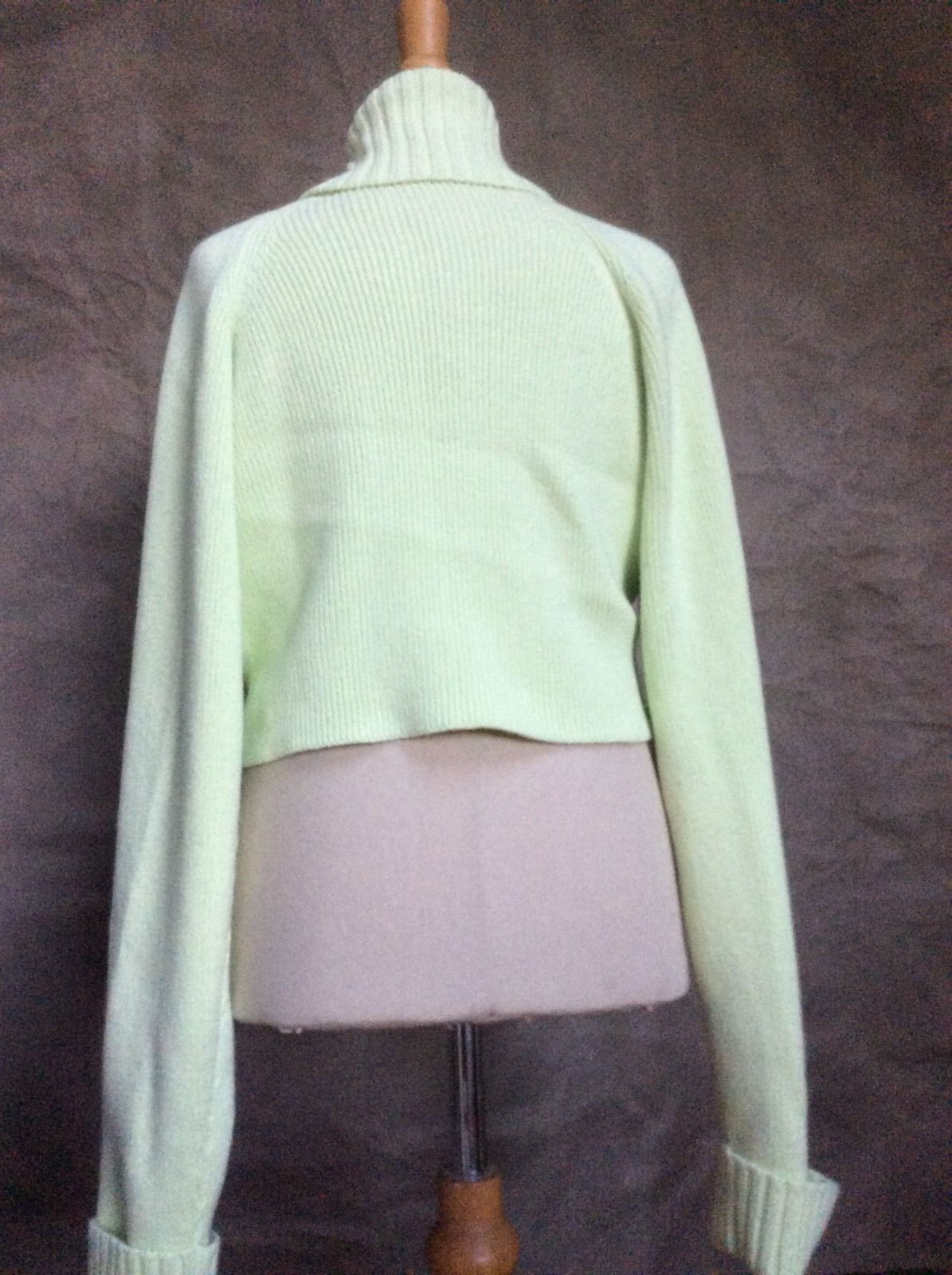 00a80a4d8fb Girls SHRUG SWEATER Cardigan Pink Light Green CORSAGE 12 GYMBOREE PETIT FOUR
