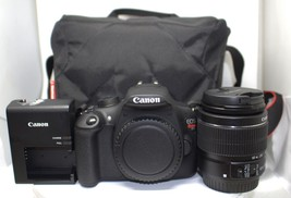 CANON EOS REBEL T5 18.0MP DIGITAL SLR CAMERA & MANFROTTO BAG #96536-2 - $296.99