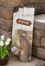 SALE /Country new rustic large Wood HAPPY EASTER sign  - $26.18