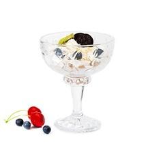 Missviya vintage crystal glass footed 6.66 OZ ice cream bowl set of 6 - $30.57