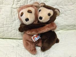 Vintage w/tag 1978 Dakin Fun Farm Hugging Bears Boy & Girl Heart Warmers L@@K - $9.89