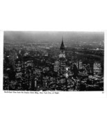 New York City Night North East View Empire State Building NYC NY RPPC po... - $7.43