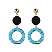 UJLN Hoop Earrings for Women Geometry Acrylic Resin Earrings Bohemia Color Earri