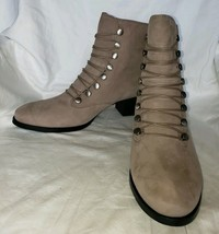 Women's Earth Comfort Doral Taupe Brown Suede Ankle Lace Up Boots 12B (Display) - $110.00