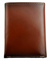 Nautica Men's Leather Credit Card Passcase Wallet Trifold Tan 31NU11X017 image 4