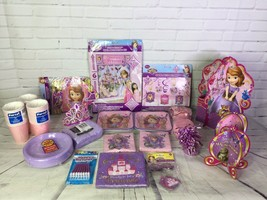 HUGE Mixed Lot Disney Sofia The First Birthday Party Supply Supplies Dec... - $84.14