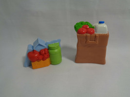 Fisher Price Loving Family Dollhouse Replacement Food Items & Grocery Bag - $5.45