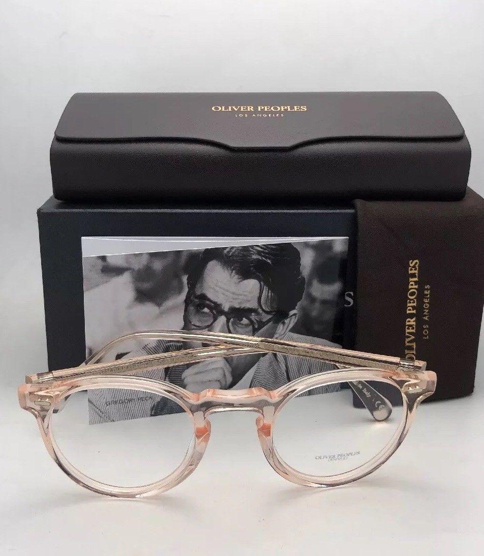 44c8f2813c New OLIVER PEOPLES Eyeglasses GREGORY PECK OV 5186 1652 45-23 Round Silk  Frames