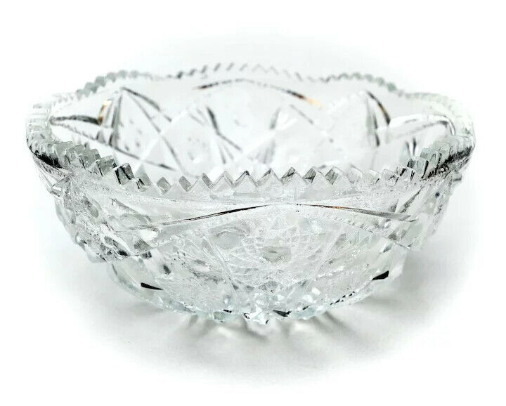 7 3/4 inch NuCut Glass Bowl by Imperial Glass Co. Vintage Before 1932