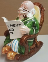BB) Retirement Fund Savings Old Man in Rocking Chair Piggy Coin Bank Hom... - $5.93