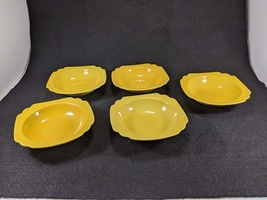 Vintage Homer Laughlin Riviera Yellow Berry Bowls, 5pc.
