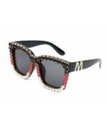 Sunglasses Women Bling Mix Rhinestone Oversize Square Sunglasses Designe... - $29.99