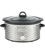 Brentwood Appliances SC-140S 4.5-Quart Scallop Pattern Slow Cooker (Stai... - $57.35