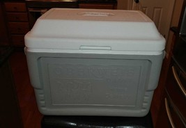 Vintage Coleman Oberweis Dairy Box Home Delivery Milk Cooler Ice Chest EUC - $49.95