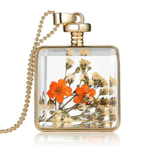 Variation #851 of Newest Dried Flower Collares Fashion Gold Color Pendant Collec - $17.76