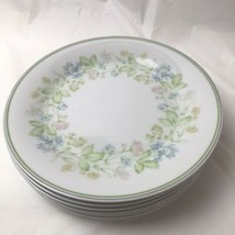 "Set Of 6 Noritake Essence Salad Dessert Lunch Plates 8 1/4"" Floral Pattern - $24.74"