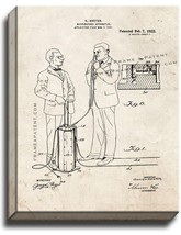 Respiratory Apparatus Patent Print Old Look on Canvas - $69.95+