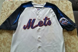 VTG MAJESTIC SEWN DAVID WRIGHT #5 NEW YORK METS WHITE MLB JERSEY MEN MEDIUM - $24.74