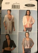 Vogue V9121 Elizabeth Gillett NYC Jacket Pattern Misses Sizes XS-M Uncut - $26.43