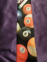 Vintage 1991 Ralph Marlin Random Billiard Pool Balls Neck Tie image 3