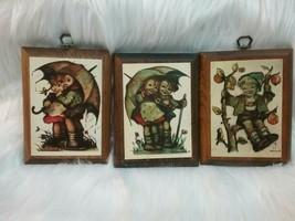 Vintage Hummel Wooden Wall Plaques Set of 3 - $6.26